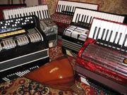 Музыкальные инструменты,  (аккордеоны, баяны, гармони)